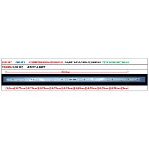 PHILIPS 43PUH/PUK4900-43PUH6101 GJ-2K15-430-D510-17,8MM-V4 Led