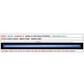 PHILIPS 43PUS6031/12 VESTEL 43'' DRT UHD B-TYPE REV0.3 VES430QNDL-2D-U