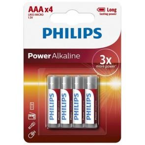 Philips Alkalin İnce Kalem Pil AAA LR03P4B Power Alkaline