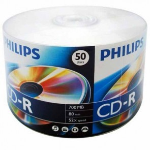 PHILIPS CD 50Lİ PAKET (CD-R 700 MB 800MİN 52X SPEED)