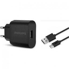 PHILIPS DLP1311NB/51 5V 2.1A 10.5W TELEFON+TABLET UNIVERSAL ŞARJ ALETİ + MICRO USB KABLO