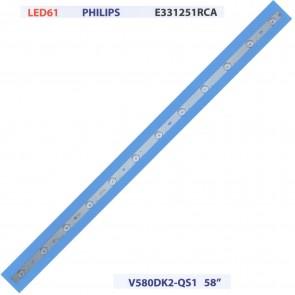 "PHILIPS E331251RCA V580DK2-QS1 58"" Tv Led Bar"