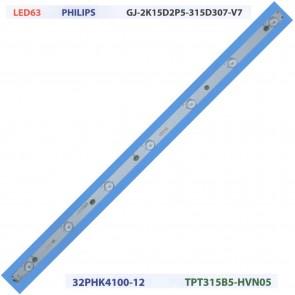 PHILIPS GJ-2K15D2P5-315D307-V7 32PHK4100-12 Tv Led Bar
