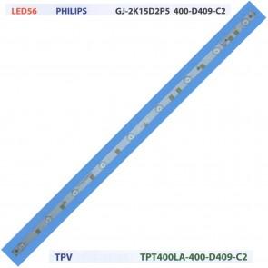 PHILIPS GJ-2K15D2P5 400-D409-C2 TPV TPT400LA Tv Led Bar