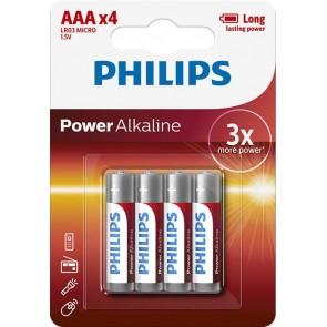 Philips LR03P4B 4'lü Alkalin AAA ince Kalem Pil