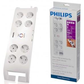 Philips Spn 3080B 8'Li 2Mt Beyaz Akım Korumalı Priz