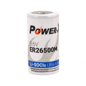Power-Xtra 3.6V ER26500M C Size Li-SOCI2 Lithium Pil
