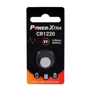 Power-Xtra CR1220 3V Lithium Pil - tekli Blister