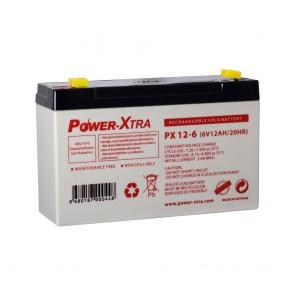 Power-Xtra PX12-6S - 6V 12 Ah Bakımsız Kuru Akü