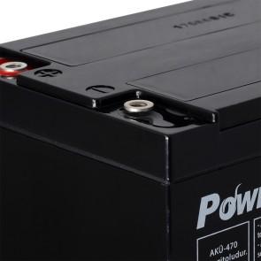 Power-Xtra PX14-12NE F6 - 12V 14 Ah Elektrikli Bisiklet Aküsü (F6/Vidalı)