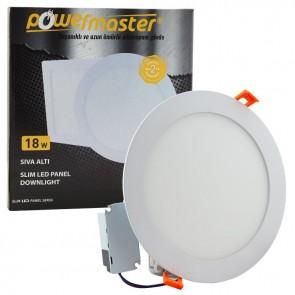 Powermaster 18 Watt Sıva Altı 6500K Beyaz 20.5Cm Yuvarlak Slım Led-Eco