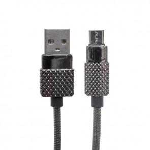 POWERMASTER 3 AMPER METAL YAYLI MICRO USB DATA VE ŞARJ KABLOSU 1 METRE