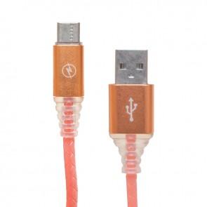 POWERMASTER 3 AMPER ÖRGÜLÜ RGB IŞIKLI TYPE-C USB DATA KABLOSU 1 METRE
