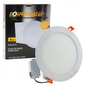 Powermaster 6 Watt Sıva Altı 6500K Beyaz Yuvarlak Slım Led-Eco Spot Pa