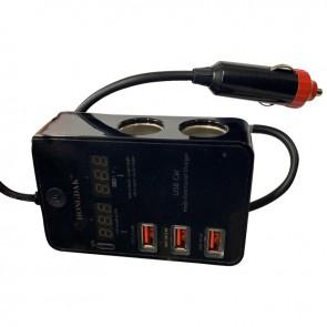 POWERMASTER PM-19828 2 X ÇAKMAK ÇOKLAYICI + 3 USBLİ ÇOK FONKSİYONLU ŞARJ CİHAZI