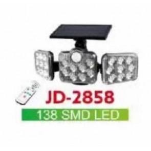 POWERMASTER JD-2858 SENSÖRLÜ 138 LEDLİ SOLAR LAMBA