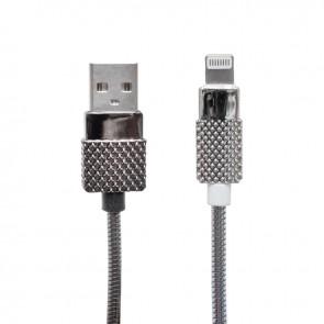 POWERMASTER METAL YAYLI LIGHTNING USB DATA KABLOSU 1 METRE