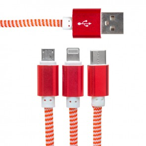 POWERMASTER MICRO USB/TYPE-C/LIGHTNING 2.1A METAL 1.2 METRE ŞARJ VE DATA KABLOSU