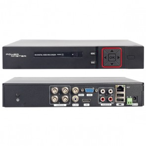 POWERMASTER PM-12180 1080N H265 4 KANAL DVR/XVR KAYIT CİHAZI XMEYE VİDEO ÇIKIŞLI