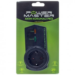 Powermaster PM-16621 Tekli Akım Korumalı Priz