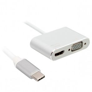 POWERMASTER PM-18227 USB TYPE-C TO HDMI-VGA ADAPTÖR 2 IN 1 APARAT