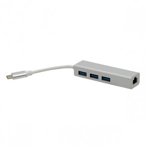 POWERMASTER PM-18229 USB TYPE-C 3.0 3 PORT HUB + GIGABIT ETHERNET ADAPTÖR