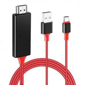 POWERMASTER PM-6019 TH+USB TYPE-C TO HDMI + USB 2 METRE KABLO