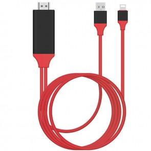 POWERMASTER PM-6020 P8M LIGHTNING TO HDMI + USB 2 METRE KABLO