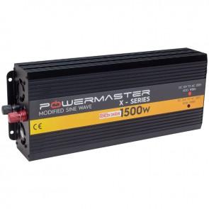 POWERMASTER PWR1500-24 TEK DIGITAL EKRAN 24 VOLT 1500 WATT MODIFIED SINUS WAVE İNVERTER