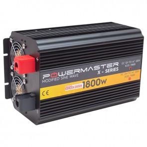 POWERMASTER PWR1800-12 ÇİFT DIGITAL EKRAN 12 VOLT 1800 WATT MODIFIED SINUS WAVE İNVERTER