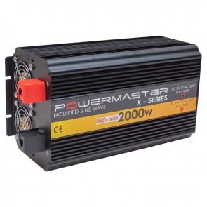 POWERMASTER PWR2000-12 ÇİFT DIGITAL EKRAN 12 VOLT 2000 WATT MODIFIED SINUS WAVE İNVERTER