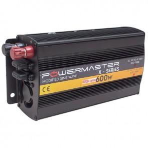 POWERMASTER PWR600-12 TEK DIGITAL EKRAN 12 VOLT 600 WATT MODIFIED SINUS WAVE İNVERTER