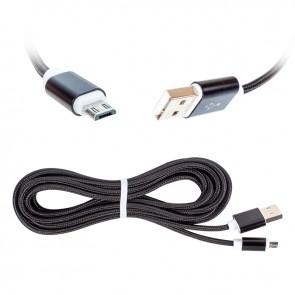 POWERMASTER S3-S4 SAMSUNG MICRO USB ŞARJ VE DATA KABLOSU HASIRLI 3 METRE