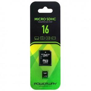 POWERWAY PWR-16 16GB MICRO SD HAFIZA KARTI (CLASS 10)
