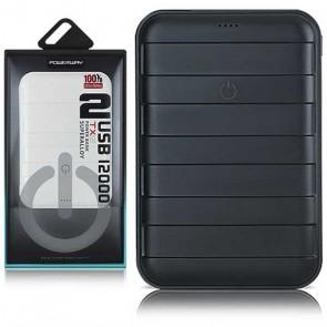 POWERWAY TX-12 12000 MAH ÇİFT USB DİJİTAL EKRAN SİYAH*BEYAZ POWERBANK