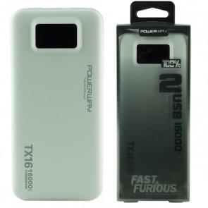 POWERWAY TX-16 16000 MAH ÇİFT USB DİJİTAL EKRAN SİYAH*BEYAZ POWERBANK