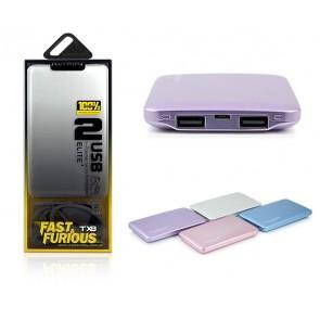 POWERWAY TX8 8000 MA KABLOSUZ WIRELESS ÇİFT USB SİYAH*BEYAZ POWERBANK
