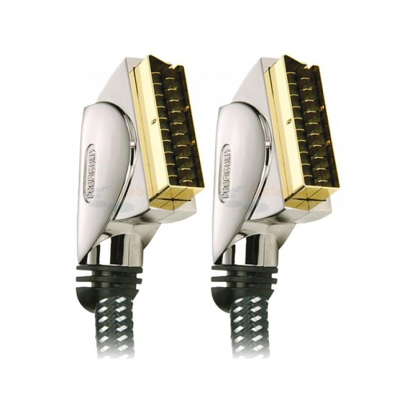 PROFIGOLD OXYPURE PGV7000 İPLİ METAL GOLD UÇLU PREMİUM SCART SCART KABLO 1.5 MT