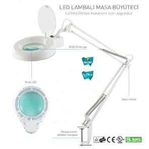 Prolink 1066Hled-1C Lambalı Akrobat Beyaz Büyüteç 3D Lens