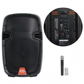 PROMAIN MV-120A ŞARJLI USB/SD 1*KABLOSUZ EL MİK30 CM-SEYYAR-AKTİF HOPARLÖR