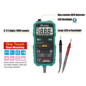Proskit MT-1509 Cep Tipi Autorange Multimetre Ölçü Aleti