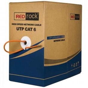 REDROCK FLU57OFC YANMAZ SAF BAKIR 305 METRE CAT6 UTP 23 AWG KABLO TURUNCU