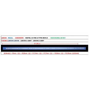 REGAL 43R5900FM VESTEL 43 FHD A-TYPE REV0.8 VES430UNDL-2D-N01 Tv Led