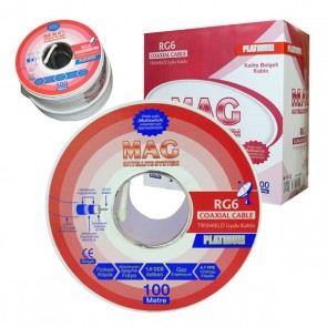 RG6/U4 MAG PLATINUM TRISHIELD ANTEN KABLO 64 TEL (100 METRE)