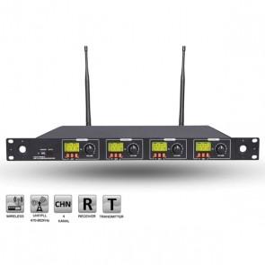ROOF R-4004 4 KANAL UHF KABLOSUZ RECEIVER ÇİFT TUNERLİ