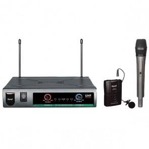 ROOF R-720 1 EL+1 YAKA UHF TELSİZ MİKROFON
