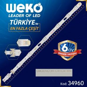 S_KU6K_43_FL30_L7_REV1.0 LM41-00268A - V6DU-430DCA-R2 - RIGHT - 46.7 CM 7 LEDLİ (WK-780)