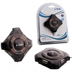 S-LINK SL-1002 4 PORT YILDIZ USB HUB 2.0