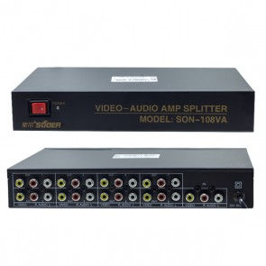 POWERMASTER PM-4832 8 PORT VIDEO AUDIO DAĞITICI (1024X768-85HZ)