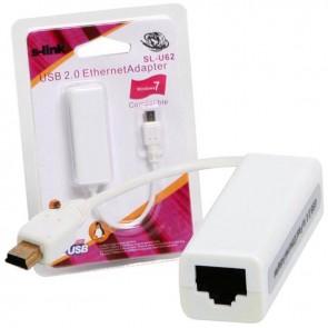 S-LINK SL-U62 USB MINI 5PIN TO LAN 5CM ÇEVİRİCİ (TABLETLER İÇİN)